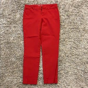 Red old navy skinny jeans